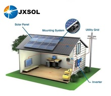 high efficiency solar power system on-grid 5kw solar panel system for home use