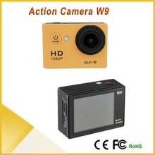 "New SJ7000 Style WIFI Action Camera W9 wifi 12MP CMOS Full HD 1080P 30FPS 2.0""LCD Diving 30M Waterproof Sport DV, Action Cam W9"