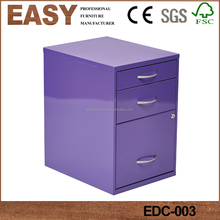 Purple style drawer file cabinet wood cabinet small drawer under cabinet drawer