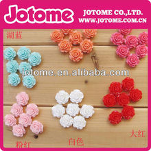 10mm Colorful Resin Rose Flowers Cabochons 10 Colors Cameo Flat Back