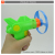 Cheap top quality kids plastic flying disc gun toy for sale