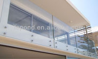 12mm tempered glass with fitting for balcony