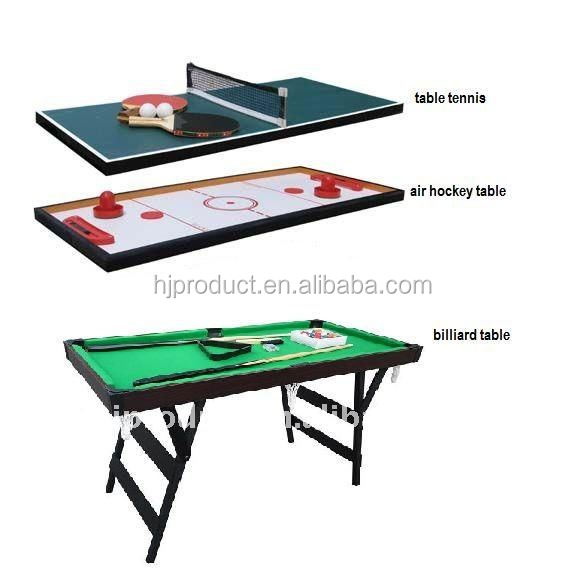 2015 best wholesale small size table tennis push hockey for 10 in 1 table game