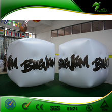 Promotional Inflatable White Cube, Custm PVC Helium Balloon