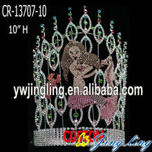 Custom rhinestone seahorse mermaid princess pageant crowns