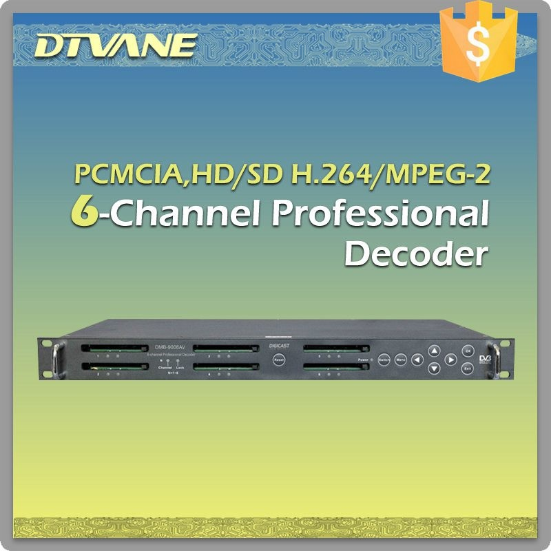 DMB-9006AV Irdeto 2 decoder IRD DVB-S, DVB-S2 Professional decoder Digital TV head-end system, broadcasting and distribution