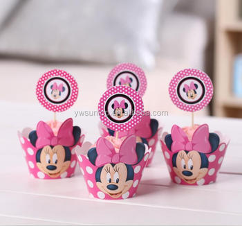 Minnie mouse cupcake wrappers decoration birthday party supplies wedding gifts for guests
