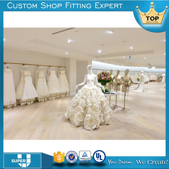 Fancy Attractive Nice Looking Decoration Of Wedding Dresses Shop