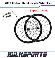 Wholesale 700c full carbon fiber cycling wheels 38mm clincher road bicycle wheelset 25mm width complete carbon road bike wheels