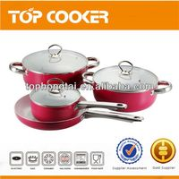Hot Selling Aluminum Eco friendly Ceramic Cookware set