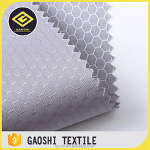 600D denier pu/uly coated jacquard woven honeycomb ripstop polyester oxford fabric for sport bags
