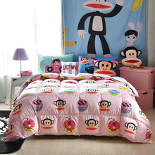 PAUL FRANK HD Printing 90% White Goose Down Duvet Design Edredon Comforter Wholesale 150*200cm 200*230cm or Custom Size