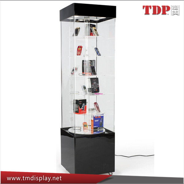 custom retail store stand rotating acrylic mobile phone display showcase