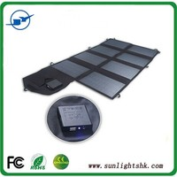 28W portable solar panel mounting with Dual Output-port for DC 18V devices & USB 5V devices