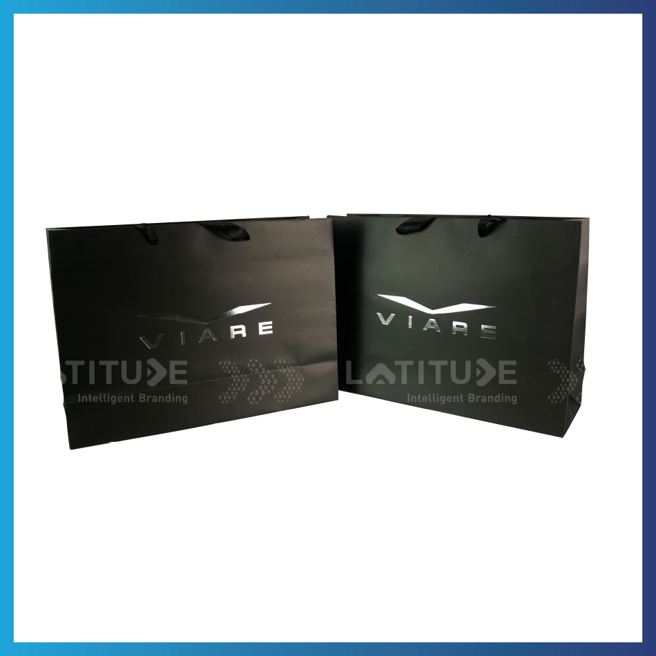 High Quality Silver Hot-Stamping Paper Tote Gift Shopping Bags