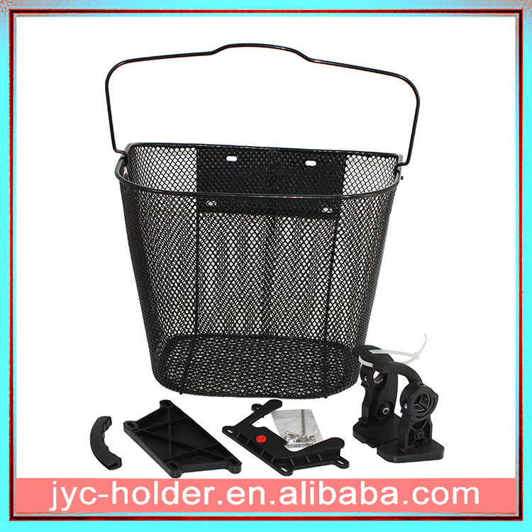 Black Steel front Bicycle basket