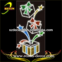 200*100cm Christmas motif lights wrought iron wall decor flowers