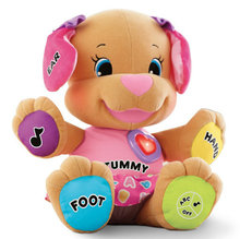 Fisher Dog Toys Baby Musical Plush Electronic Toys Dog Singing English Songs Learning&Education Love To Play Puppy