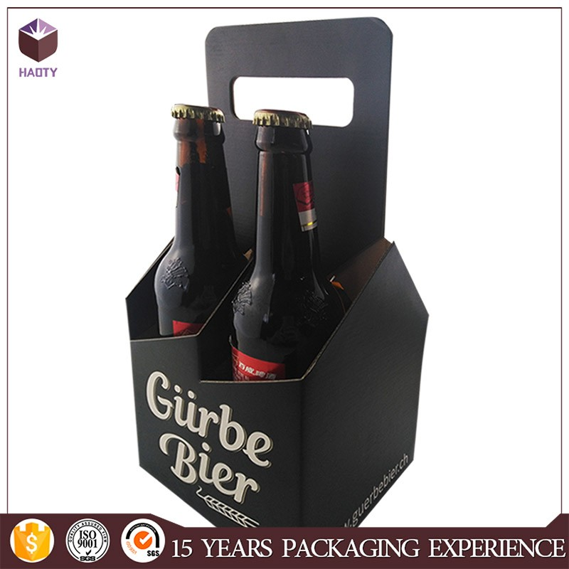 Colorful Foldable Cardboard Wine Gift Boxes of 4 Bottles Packaging