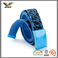 knitting machine elastic nylon jacquard fabric custom buckles web belt