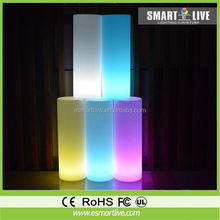 Pipe and drape stands for hotel decoration with LED lights