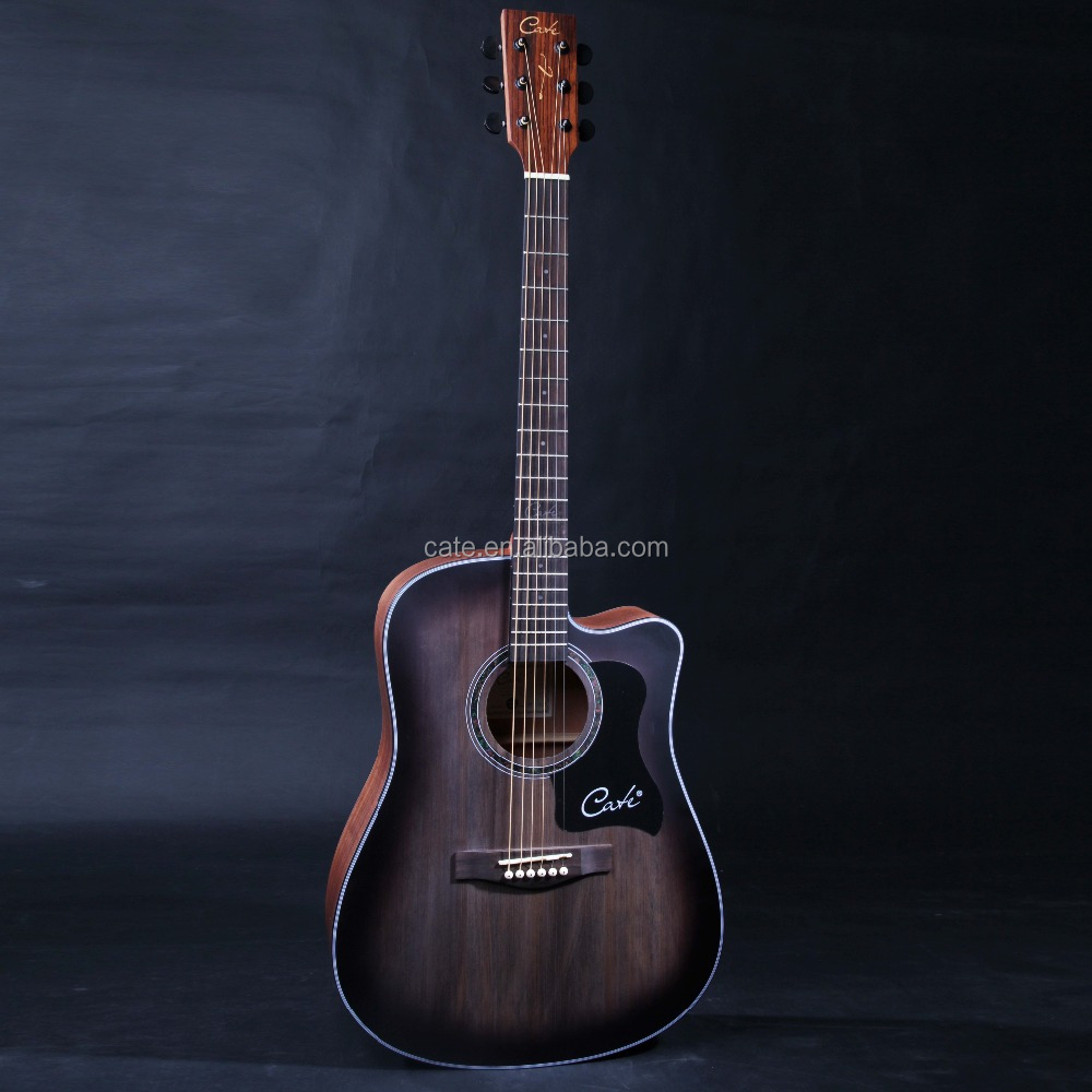 QM- 714 entry level China made 41 inch cutaway spruce body guitar wholesale from manufacturer