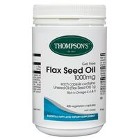 Thompson's Gel-Free Flaxseed Oil 1000mg 400 Capsules (healthy Joints)