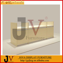 Wood veneer glass jewelry display cases for sale