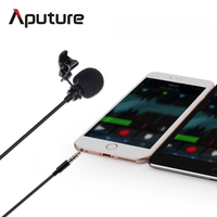 Aputure collar lapel clip on Lavalier microphone for Smartphone with 3.5mm jack