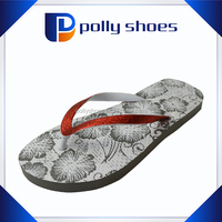 novelty ladies blue glitter slipper beach shoes