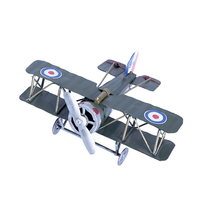 Personality iron aircraft creative model home decoration wholesale