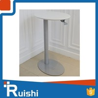 Factory price wood top gas lift table leg cafe table and chair