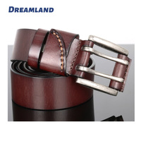 Double Pins Buckles Cowboy Style Genuine Leather Belts Wholesale