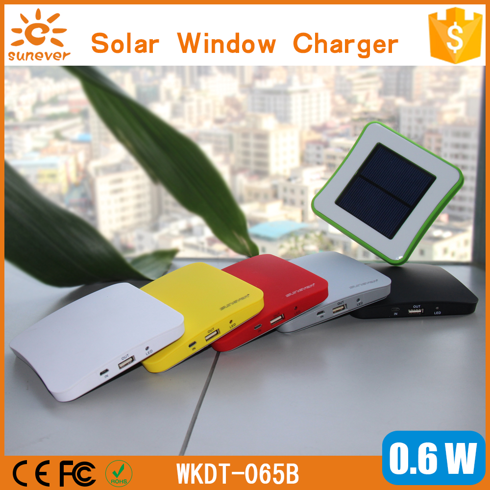 Universal solar charger cell phone portable solar power bank 5V/1A output window solar charger for mobile phone