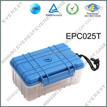 IP67 watertight plastic small case/box with transparent bottom