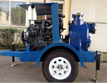 Self priming diesel engine centrifugal sewage water pump with trailer