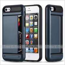 100% Inspection PC Protective With Side Card Slot Hard Shell Slim Case For iPhone 5