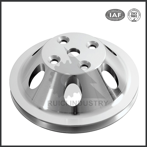 Precision custom large aluminum material v belt pulley for sale