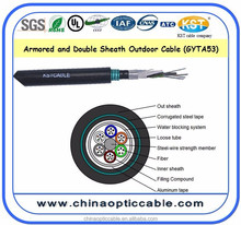 Fiber Optic Armored Cable (Loose Tube Aluminum with Steel Tape) GYTA 53