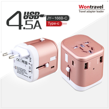JY-166B-C New design Charger for Type-C port and 3 USB , Mobile Phone Accessories Universal Travel Adapter Type-C