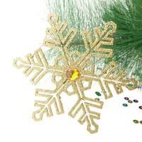 Christmas Decorations manufacturer plastic glittered snowflake ornament