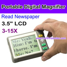 3.5 Inch Low Vision Aids Portable Digital Magnifier