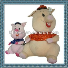 Wholesale top quality plush pink pig doll toy plush animal backpack for kids