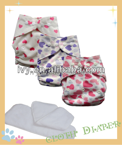 Fashion Reusable Diaper One Size Pocket Baby PUL Cloth Nappy