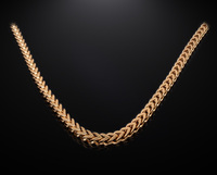 2017 gold plated chunky 8mm stainless steel franco chain 24 inch