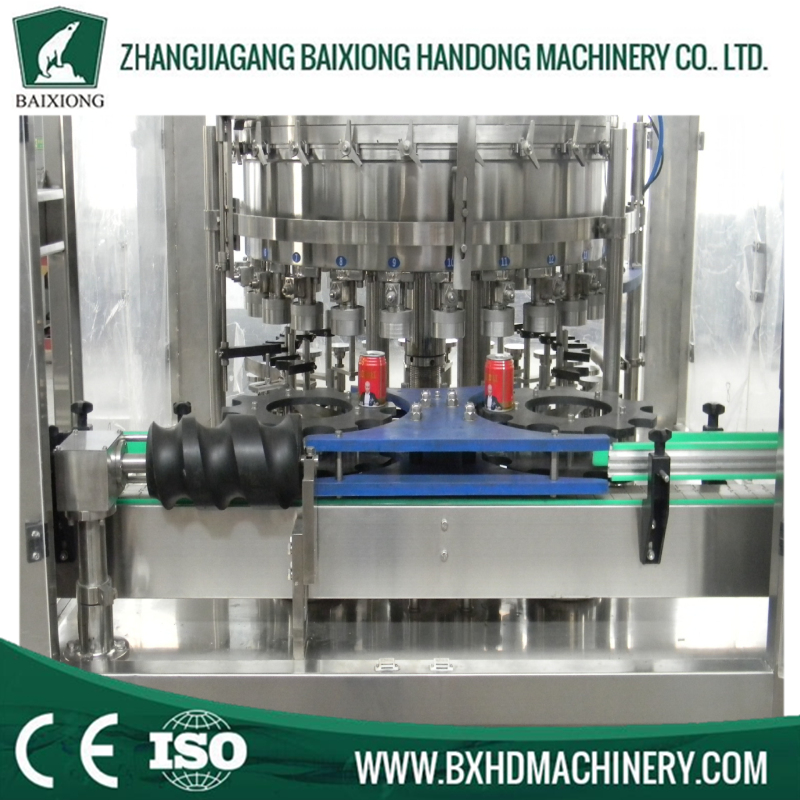 Automatic beer beverage can filling machine