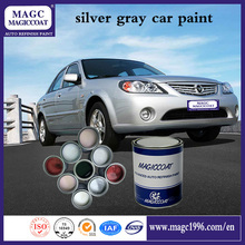 Super Fine Car Refinishing Coating Silver Gray Metallic Auto Paint For Cars