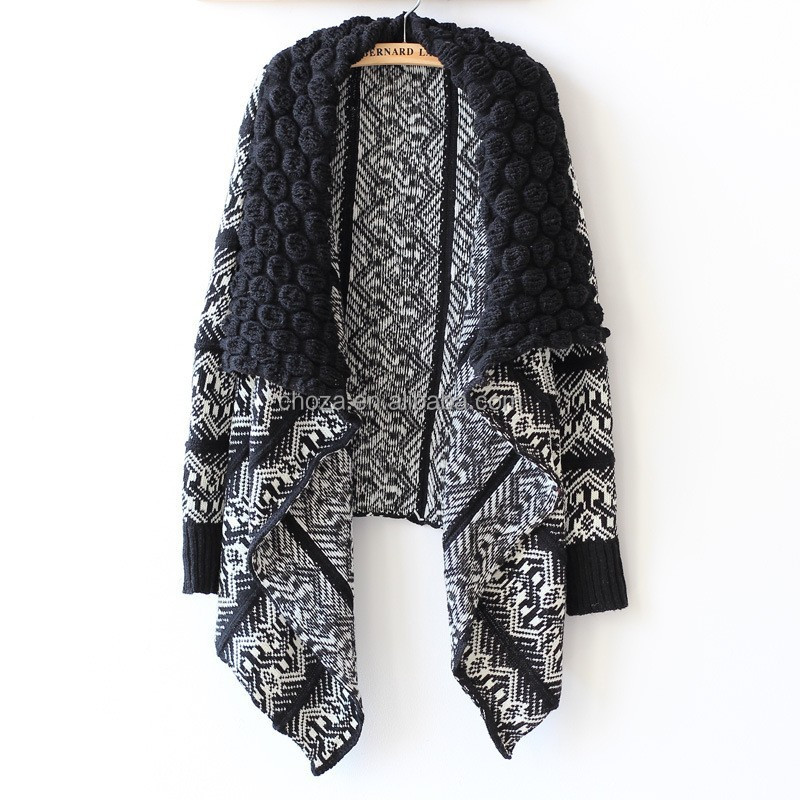C21549B Hot Sale Women Winter Knitting Poncho