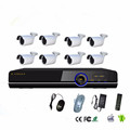 POE NVR kit P2P onvif network waterproof metal housing IP camera public and home security