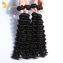 Raw unprocessed virgin hair, deep wave 100% virgin peruvian hair weft